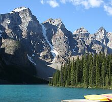 Moraine Lake, Alberta, Canada by Deb22