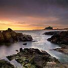 Bamburgh Castle Dawn by Phillip Dove