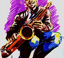 Jazz Portraits-Branford Marsalis by Francesca Romana Brogani