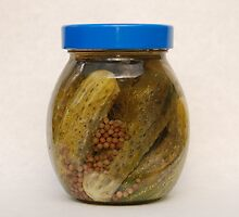 Jar of Pickled Gherkins  by jojobob