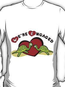 "Funny Engagement Engaged ""We're Engaged"" T-Shirt"