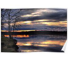 Sunset at Otter Falls Poster