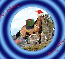 SPECIAL DELIVERY HORSE LOVER CHRISTMAS CARD- MERRY CHRISTMAS by Cheryl Hall
