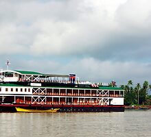 The RV Pandaw IV on Burma's Irrawaddy River by John Mitchell