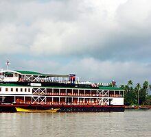 The RV Pandaw IV on Burma's Irrawaddy River by John Mitchell