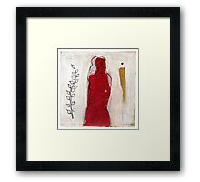 woman in red  Framed Print