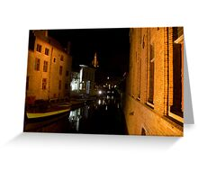 White House in Brugge (Belgium) Greeting Card