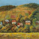 Sunny evening in Carpathian foothills by Vera Kalinovska