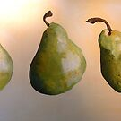 Three Pears by CatSalter