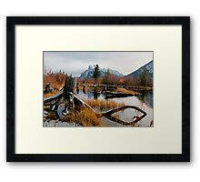 Vermillion Lakes & Mount Rundle Framed Print