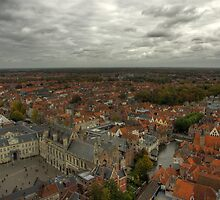View from the Belfry of Brugge by Béla Török