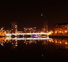 Queens Bridge Belfast  Lagan River by aaronpmcc