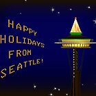 Happy Holidays From Seattle by lydiasart