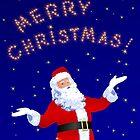 Santa Claus with Stars by lydiasart