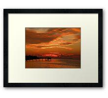 Pine Island Sunset Framed Print