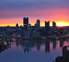 Pittsburgh Skyline at Dawn by Shadrags