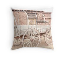 An Old Uncovered Wagon. Throw Pillow