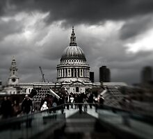 St Paul's and the Millennium Bridge  by Matthew Walters