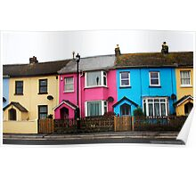 Houses With Colour Poster
