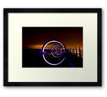 Falkirk Wheel at Night Framed Print