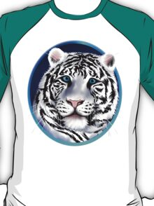 Framed White Tiger Face T-Shirt