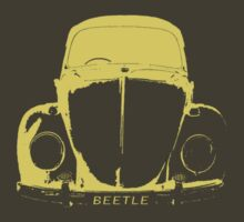 VW Beetle Shirt - Yellow by melodyart