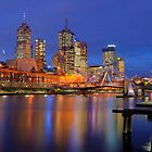 Melbourne from Southbank by Neville Jones