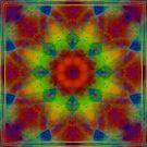 Phatpuppy Retro Texture Kaleido2 by Hugh Fathers