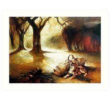 Waiting Faithful - Waltzing Matilda Series  Art Print