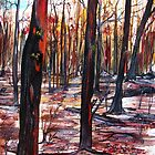 Australian Bushfire - Regeneration - Trees by  Linda Callaghan