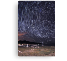 Star Trails Over Lake Clifton  Canvas Print