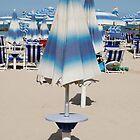 Closed Blue Beach Umbrella  by jojobob
