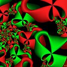 Christmas Ribbons by Sandra Bauser Digital Art