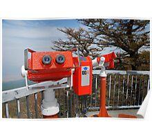 Two Viewing Binoculars at Fuji  Poster