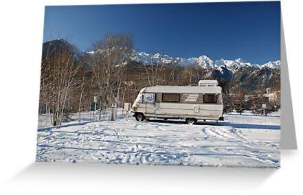 A-Class Motorhome in Snow  by jojobob