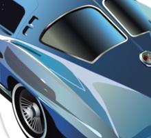 1963 Corvette Split Window Fastback Blue Sticker