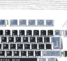 Classic 80's Keyboard Design Sticker