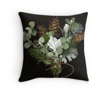 December Bouquet Throw Pillow