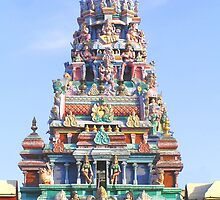Hindu Gopuram by Christopher Biggs