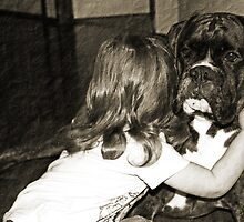 I Love You !  -Boxer Dogs Series- by Evita