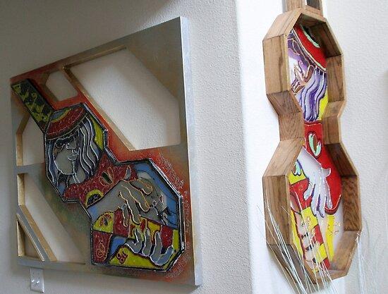Guitar Wall Scupltures by Reynaldo