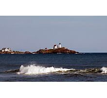 Coastal View of Nubble Lighthouse Photographic Print