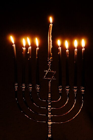 Lit Menorah by MsKimberly