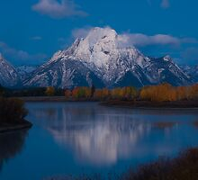 Oxbow Bend Predawn, Grand Teton Np. by Albert Dickson