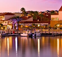 Sunset over Mindarie Marina, Western Australia by Dave Catley
