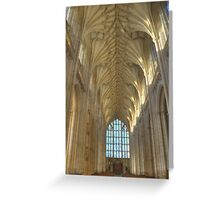 The Nave and West Window Greeting Card