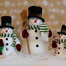 Cheerful Snow-people by Marjorie Wallace