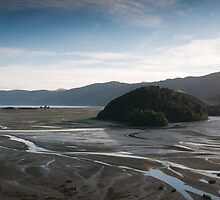 View over Cable bay at dawn by John Violet