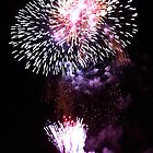 Fireworks on the Bay-Geelong Vic Au by Rhonda F.  Taylor
