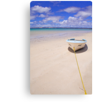 The yellow rope, Island Beach, Kangaroo Island Canvas Print